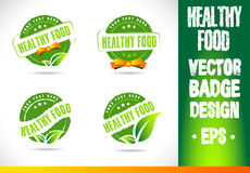 Healthy food Badge Logo Vector Royalty Free Stock Images