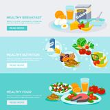 Healthy Food Banner Royalty Free Stock Image