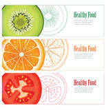 Healthy food banner Stock Photos