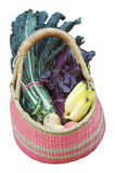 Healthy food basket Stock Images
