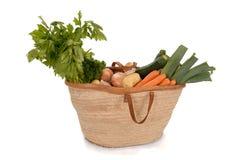 Healthy food: basket full of vegetables Stock Image