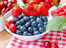 Healthy food - Berry fruits in bowl Royalty Free Stock Image
