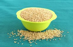 Healthy Food Brown Rice stock photography