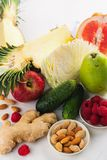Healthy food for burning fat. Healthy eating or diet concept. Space for text royalty free stock image