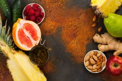 Healthy food for burning fat. Healthy eating or diet concept. Space for text stock photos