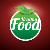 Healthy food button Royalty Free Stock Image