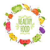 Healthy food cartoon representing. Some funny vegetables Royalty Free Stock Images