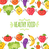 Healthy food cartoon representing. Some funny vegetables Stock Photography