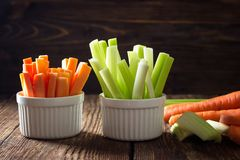 Healthy food - celery and carrot stock photos