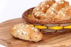 Healthy food cereals seeds integral flour bread Stock Photography