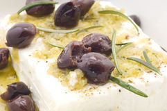 Healthy food with cheese and olives Royalty Free Stock Images