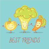 Healthy food for children. Apple, broccoli and Royalty Free Stock Image