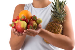 Healthy food choices Stock Images