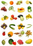 Healthy food collection on white Royalty Free Stock Image