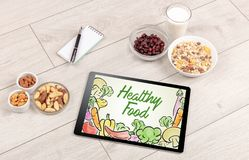 Healthy food composition Royalty Free Stock Photography