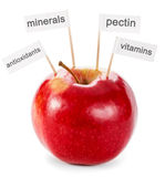 Healthy food concept - apple Stock Photography