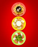 Healthy food concept as traffic light Royalty Free Stock Image