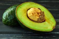 Healthy food concept, fresh avocado stock photo