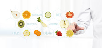 Free Healthy Food Concept, Hand Of Nutritionist Doctor Pointing Fruit Royalty Free Stock Image - 93042396