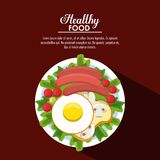 Healthy food information. Healthy food concept with information vector illustration graphic design Royalty Free Stock Photo