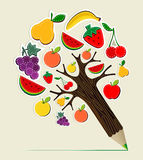 Healthy food concept pencil tree Stock Photos