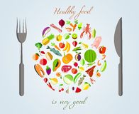 Healthy food concept Stock Image