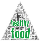 Healthy food concept in tag cloud Stock Image