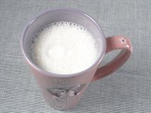 Healthy food - cup of milk Royalty Free Stock Photography