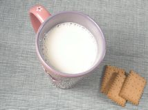 Healthy food - cup of milk Royalty Free Stock Images