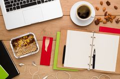 Healthy food delivery, lunch box with diet meal Stock Photos
