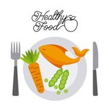 Healthy food design Stock Image