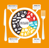 Healthy food design stock illustration