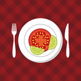 Healthy food design Royalty Free Stock Photos