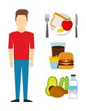 Healthy food design. Vector illustration eps10 graphic Stock Image