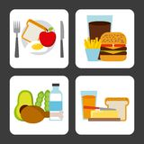 Healthy food design Stock Photography