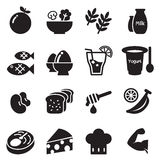 Healthy food & Diet food icons set Vector Stock Image