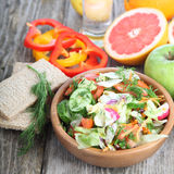 Healthy food for diet on a wooden table . Royalty Free Stock Images