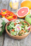 Healthy food for diet on a wooden table . Royalty Free Stock Photos