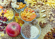 Healthy food - dried fruit - sweets royalty free stock photography