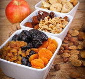 Healthy food. Dried organic fruits Stock Photo