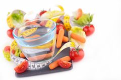 Healthy food and drink Royalty Free Stock Images