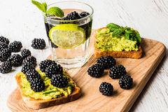 Healthy food and drink. stock photo