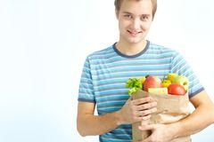 Healthy food eater Royalty Free Stock Photos