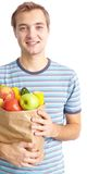 Healthy food eater Stock Photography