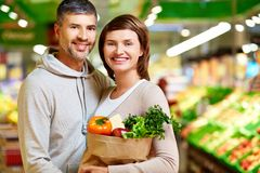Healthy food eaters Stock Image