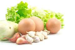 Healthy Food with Eggs Stock Images