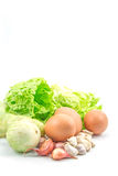 Healthy Food with Eggs, Vegetables Healthy Stock Images