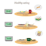 Healthy food without fast food Stock Image