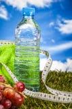 Healthy food, fitness theme Stock Photos