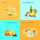 Healthy Food Flat Royalty Free Stock Photo
